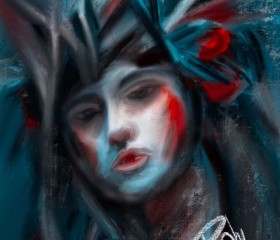 pintura música en mi cabeza